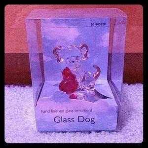 Glass Dog Ornament